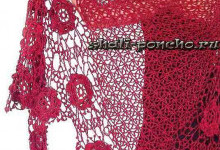 Ажурная шаль с цветочными мотивами