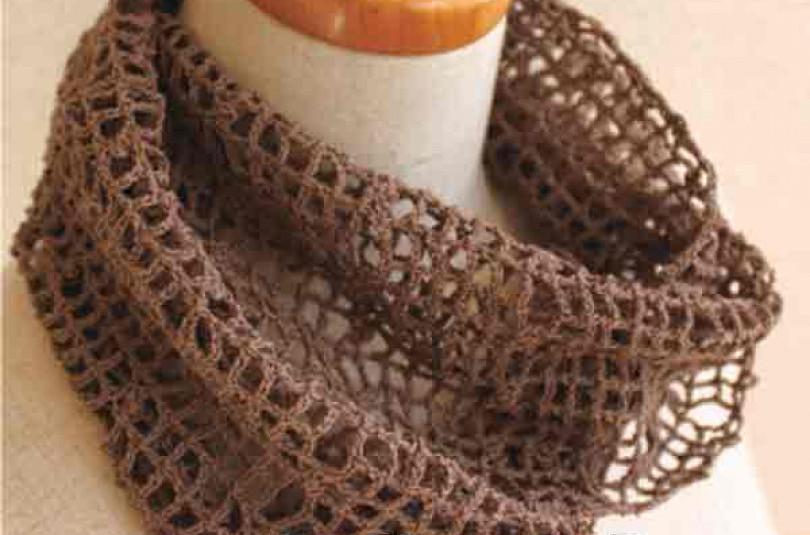 Филейный шарф — кольцо