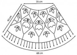 Накидка Королевские лилии