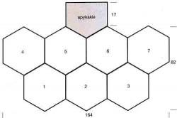 Пончо из больших шестиугольных мотивов