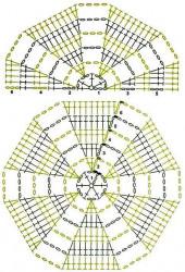 Шаль из шестиугольных мотивов