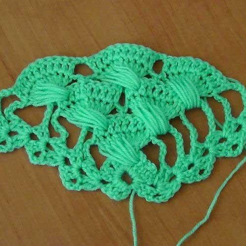 Красивый узор для вязания шали