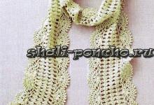 Ажурный шарф с каймой