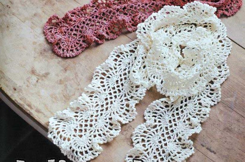 Два ажурных шарфика с оборками