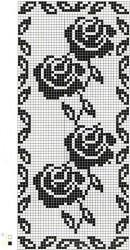Филейный палантин Четыре розы