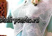 Филейный шарфик Бабочки и розы