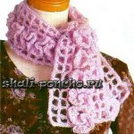 Филейный шарфик Завитушки