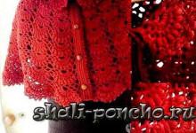 Красная пелерина с воротником