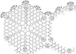 Накидка из шестиугольных мотивов