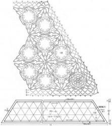 Палантин из треугольных мотивов