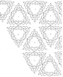 Шаль из треугольных мотивов