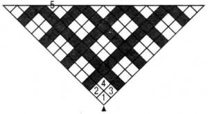Шаль в технике «вязаный пэчворк»