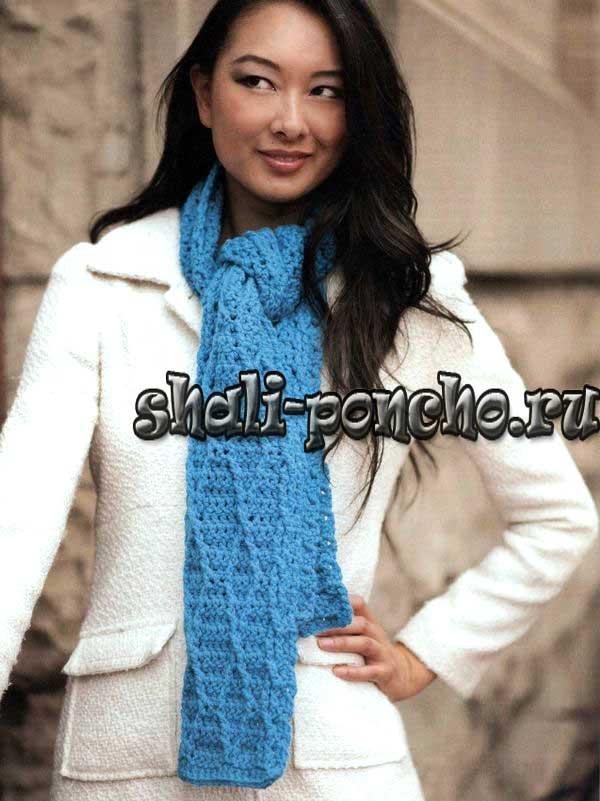 Теплый шарф, который подойдет и женщинам, и мужчинам, из журнала Love or Crochet - Winter 2013 связан крючком 6 из