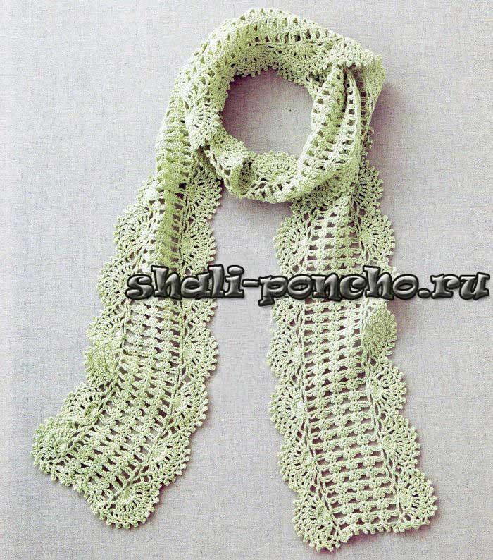 схеми вишивок хрестиком сорочок. Ажурный шарф, связанный крючком будет согревать весной, когда еще прохладно, в тоже