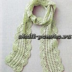Ажурный шарф с фестонами