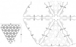 Теплая шаль из треугольных мотивов