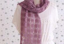 Ажурный шарф Сердечки