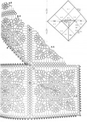 Накидка из больших квадратов