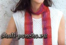 Очень простой ажурный шарф