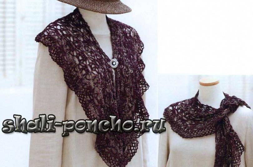 Полукруглый шарф