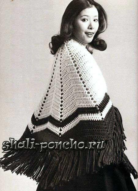 Полукруглая шаль из старого