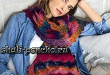 Ажурный шарф с зубчатой каймой