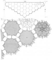 Косынка из шестиугольных мотивов