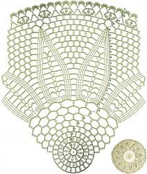 Круглая шаль-накидка