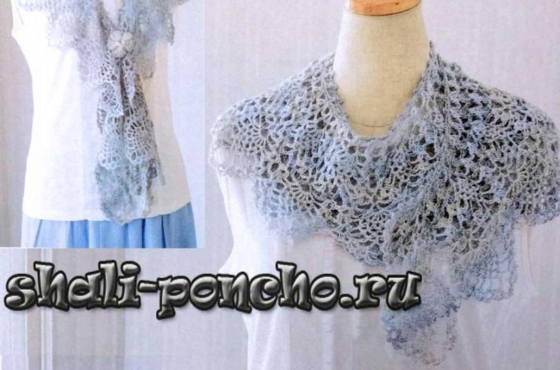 Полукруглый ананасовый шарф