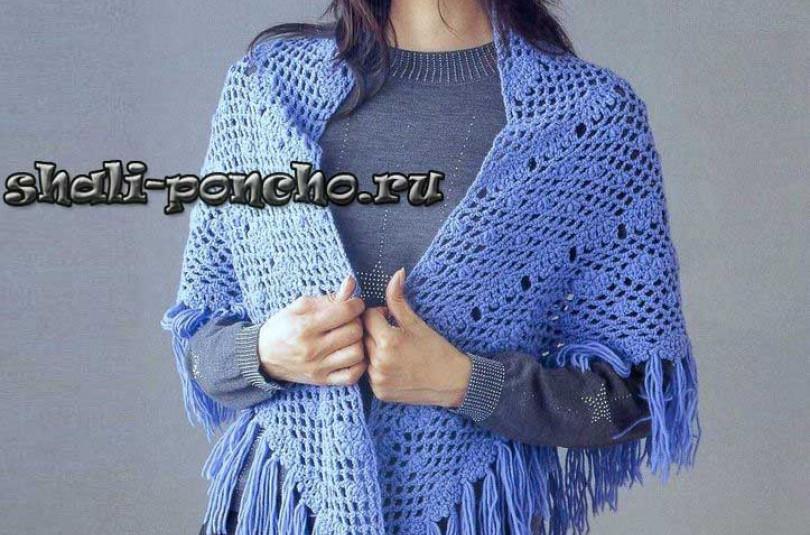 Светло-синяя шаль