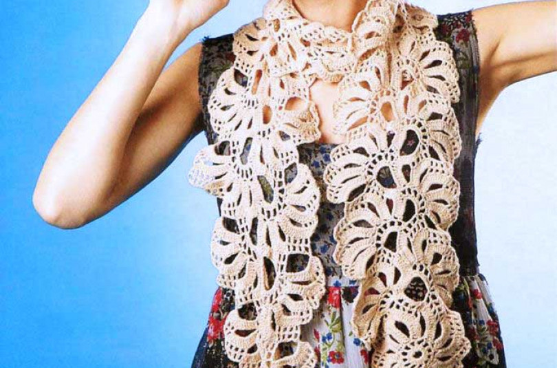 Кружевной шарф