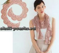 Кружевной закругленный шарфик
