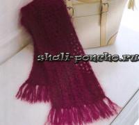 Легкий и теплый шарфик