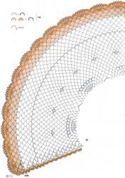 Полукруглая шаль-накидка