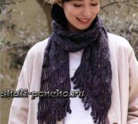 Простой шарф из цепочек